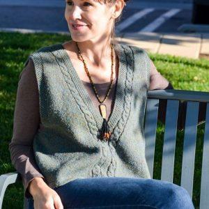 celtic cabled slipover (vest) knitting pattern