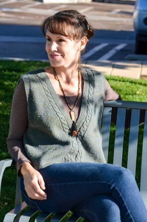 celtic cabled slipover (vest) knitting pattern
