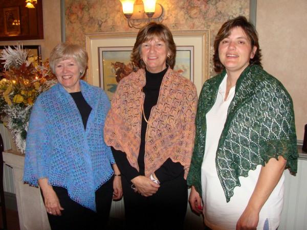 custom shawls for evelyn, barb & sherry