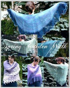 spring garden walk shawls by linda choo