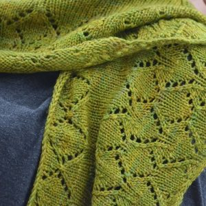 aspen whispers scarf knitting pattern lace detail