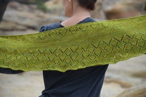 Aspen Whispers Scarf knitting pattern full view