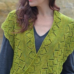 Aspen Whispers Scarf knitting pattern worn loose