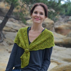 aspen whispers scarf knitting pattern with shawl pin