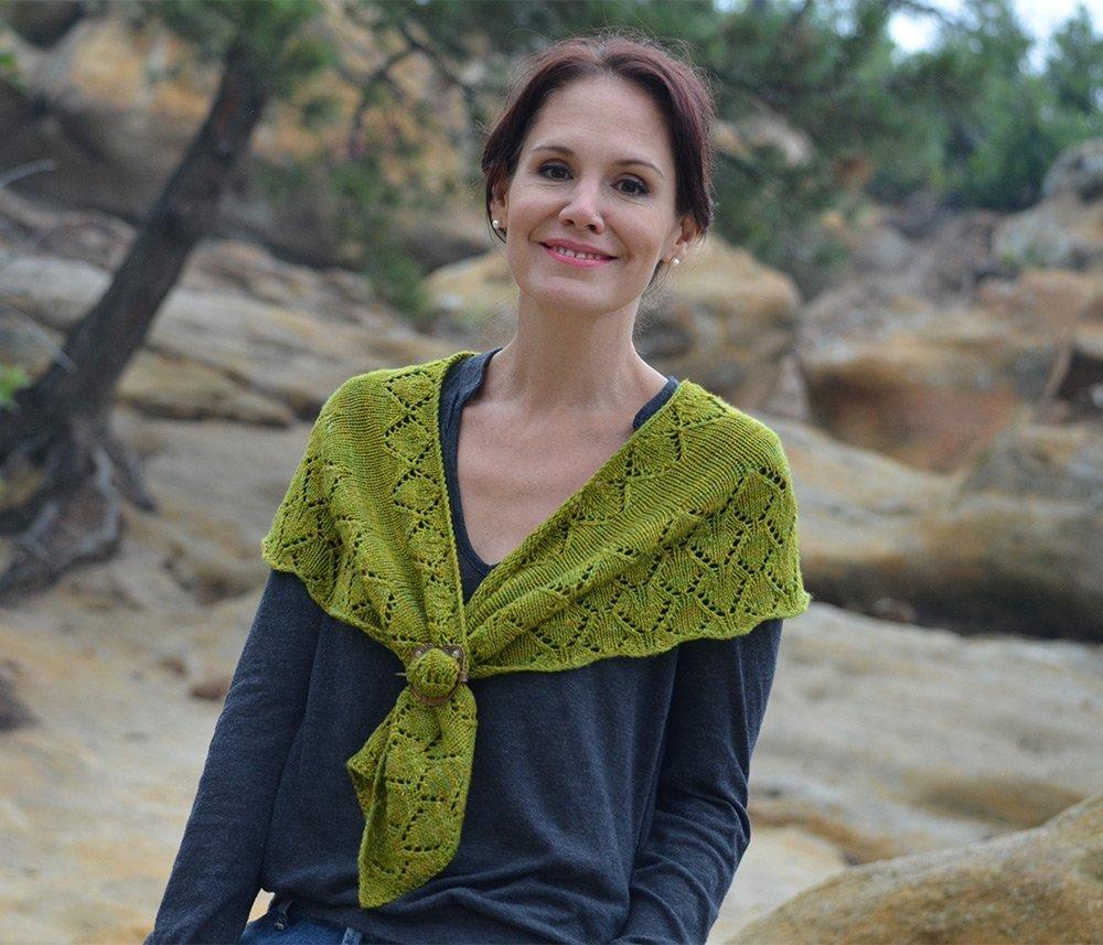 Knitting Pattern For Whisper Scarf : Aspen Whispers Scarf Knitting Pattern from Desert Rose Designs