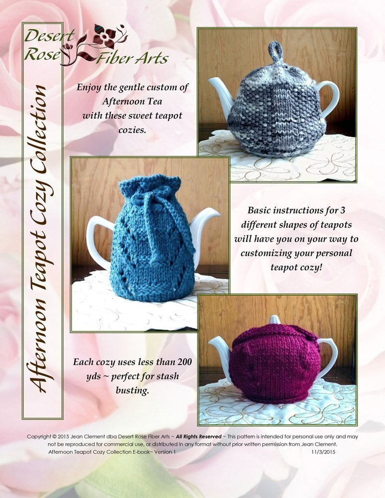 Afternoon Teapot Cozy Collection Pattern For 3 Knit Teapot Cozies