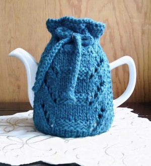 lace place teapot cozy