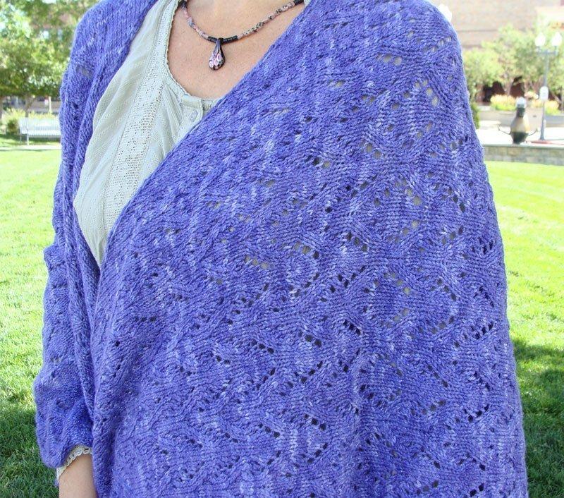 Rose Lace Knitting Pattern Free : Mystical Night Shawl Knitting Pattern