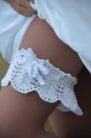 Lace Leaf Wedding Garter view 2