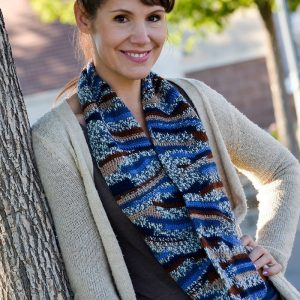 Lazy River Crochet Cowl in Regia Jacquard view 1
