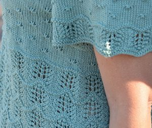 mckenna short sleeve sweater knitting pattern lace detail