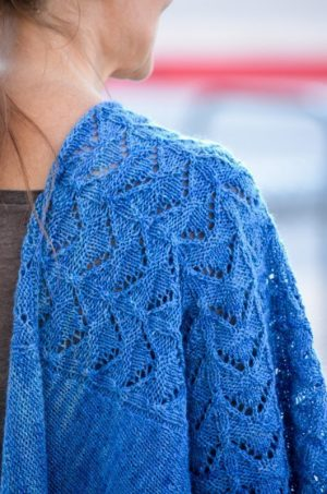 modern faroese shawl lace detail